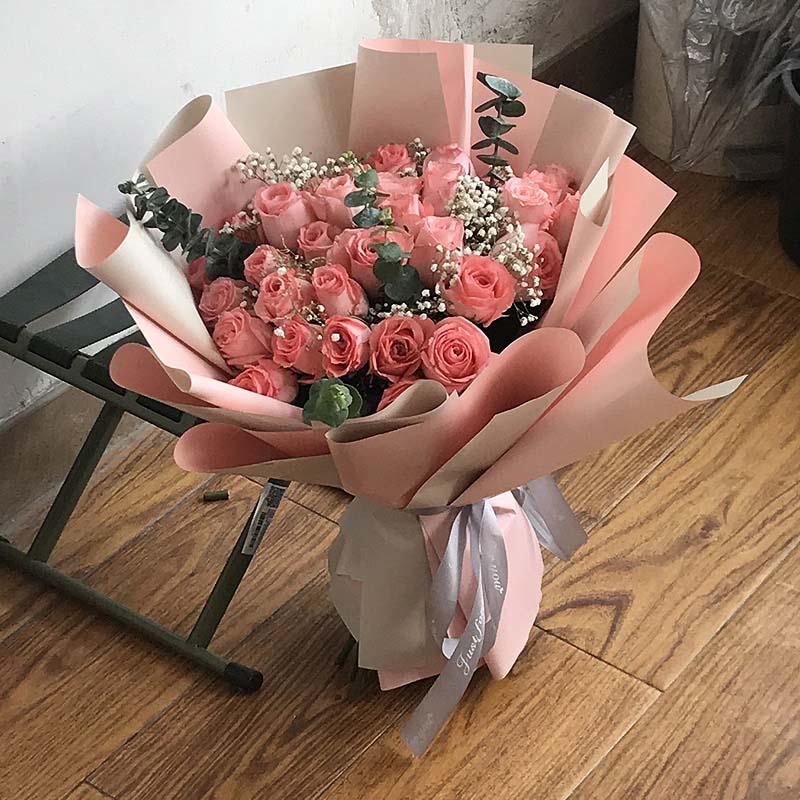 19支粉玫瑰