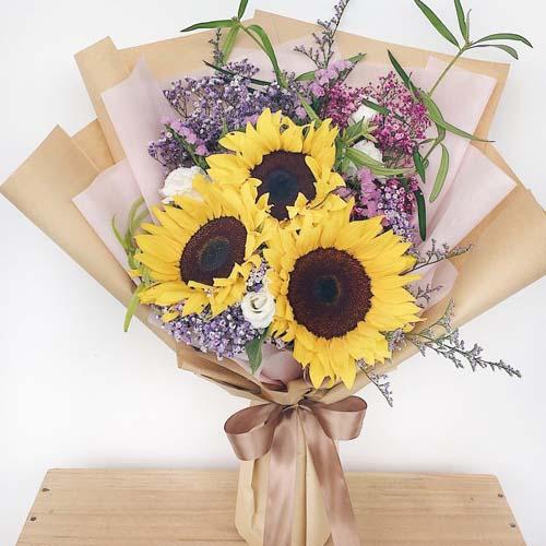 3支向日葵花束