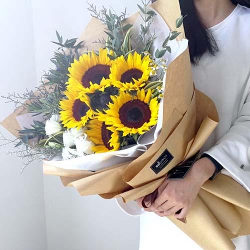 6支向日葵花束