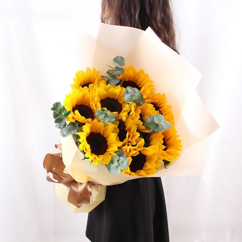 10支向日葵花束